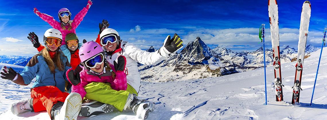 çocuk ile kayak tatili