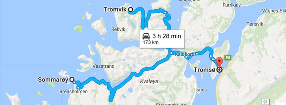 Tromsö Tromvik Sommaroy rotası