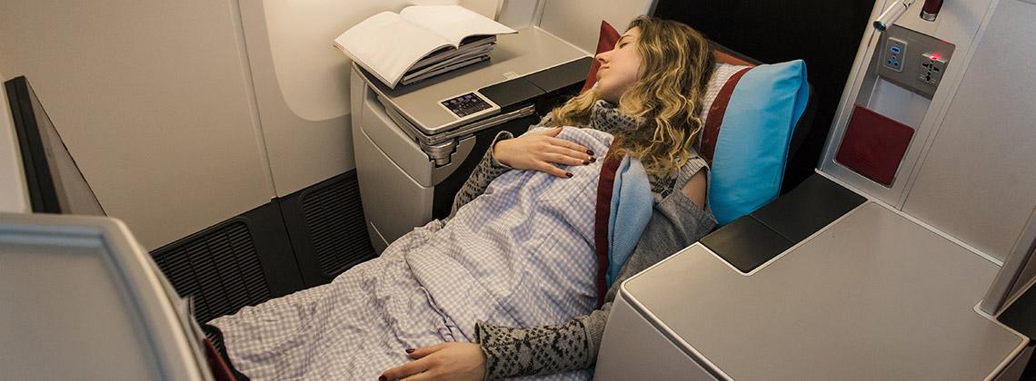 konforlu geçen uçak yolculukları