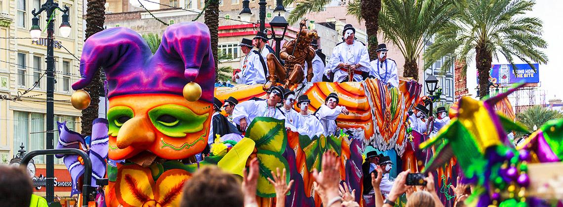Yağlı Salı (Mardi Gras), New Orleans, Luisiana – ABD (2 Şubat ile 9 Mart arası)