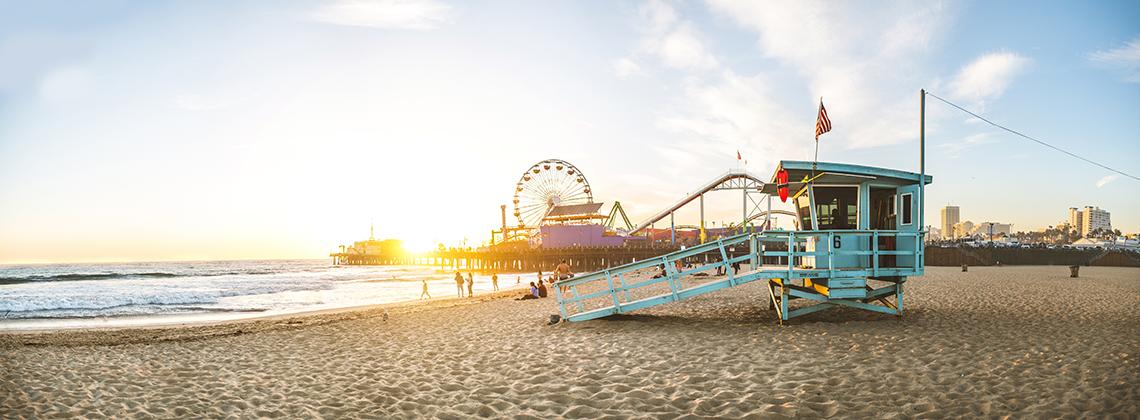 Santa Monica Pier'de Renkli Kareler