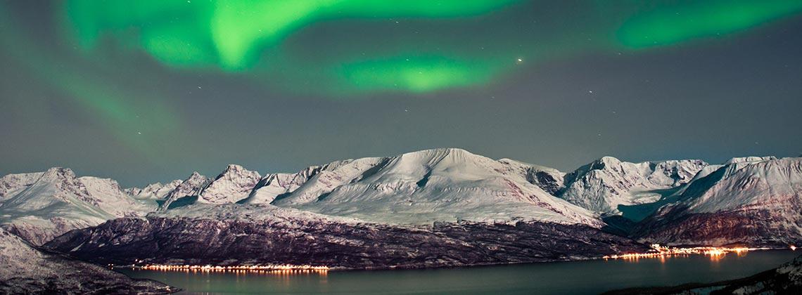 Kuzey ışıkları ile ünlü Norveç